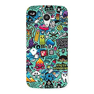 Delighted Premier candy Multicolor Back Case Cover for Moto G 2nd Gen