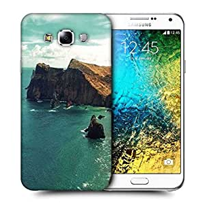 Snoogg Green Water Near Mountain Printed Protective Phone Back Case Cover ForSamsung Galaxy E7