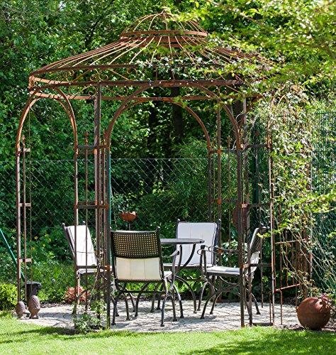 eleo milano runder rankpavillon mit sonnensegel 2 9 meter oberfl che roh edelrost. Black Bedroom Furniture Sets. Home Design Ideas