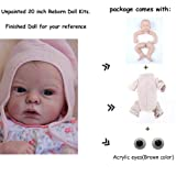 Zero Pam Reborn Baby Doll Kits DIY Doll Making Supplies 22 inch Unpainted Doll Kit Include Head, Limbs, Cloth Body and Eyes (DK1717) (Color: DK1717)
