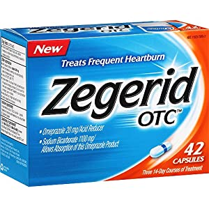 Zegerid OTC Acid Reducer - Treats Frequent Heartburn - 42 Capsules - Pack of 2 Boxes