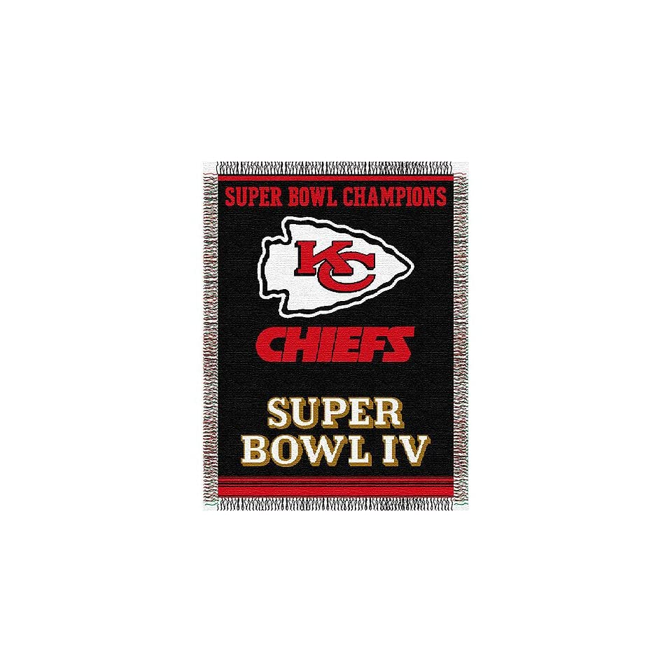Kansas City Chiefs NFL Super Bowl Commemorative Woven Tapestry Throw (48x60)