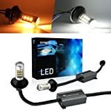 7443 Error Free Canbus Ready Dual Color Switchback LED Turn Signal Light Bulbs DRL Parking Lamp No Hyper Flash All in One (Tamaño: 7443-Signal Light-Amber/White)