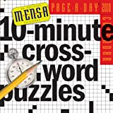 Mensa 10-Minute Crossword Puzzles Page-A-Day Calendar 2010by Fred Piscop