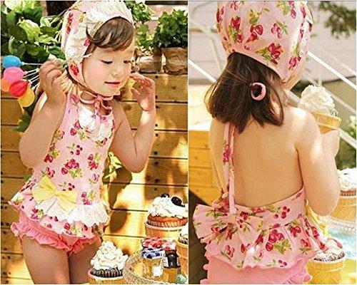 Wear Your Mind Thetickletoe Kids Girls One Piece Pink Swimsuit Swim Wear 1-3 Years (Multicolor)