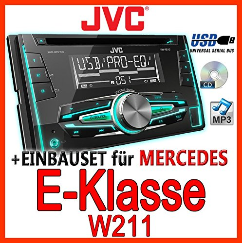 Mercedes-benz w211 classe e-jVC-kW-r510E-kit de montage d'autoradio 2 dIN