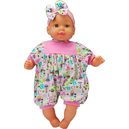 Air Baby Unbelievably Soft 13 inch Baby Doll - Pink with Stripes