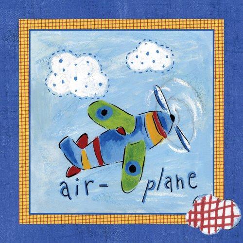 "Art 4 Kids ""Go Man Go Airplane"" Mounted Art Print, 12""X12"" front-898789"
