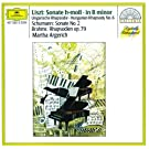 Liszt: Sonata in B minor; Hungarian Rhapsody / Schumann: Sonata No.2 / Brahms: Rhapsodies Op.79