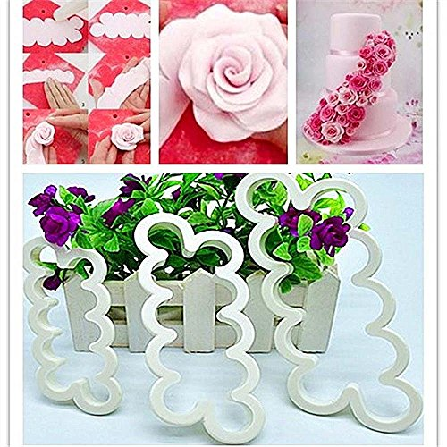 Cake Decorating Gumpaste Flowers The Easiest Rose Ever Cutter Cookie Cutters, Set of 3 (Foam Machine Cutter compare prices)