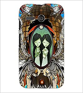 PrintDhaba Twins D-2864 Back Case Cover for MOTOROLA MOTO G (Multi-Coloured)