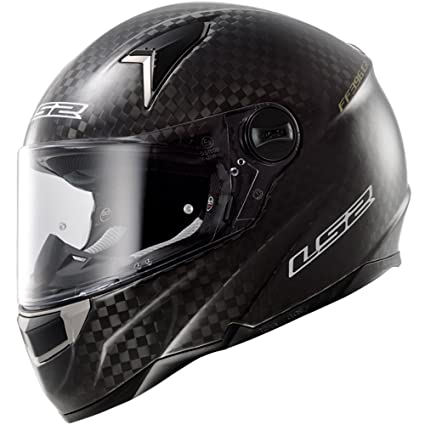 LS2 Casque de moto Ff396 Cr1 unique brillant Mono carbone gros