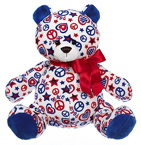 "Ganz 10"" Patriotic Peace Bear Plush Toy"