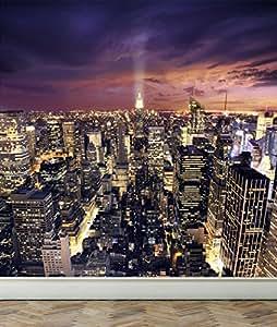 wall mural blick new york city abziehen und aufkleben aus stoff tapete wiederverwendbar f r. Black Bedroom Furniture Sets. Home Design Ideas