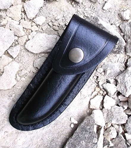 Laguiole Bougna France To Hold A 7Cm Long Closed Folding Pocket Knife Reinforced Hide Leather Knife Sheath With Rear Belt Loop