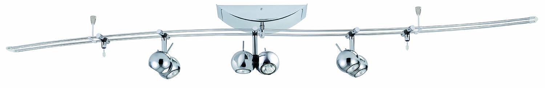 Paulmann 97617 Rail System Sphere 140 3x(2x20W)/2x10W GU4/G4 Chrom 230/12V 150VA Metall