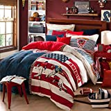 FADFAY Fashion London Style Girls And Boys Bedding Sets Queen Duvet Covers