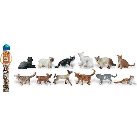 Plastoy - 6992-04 - Figurine - Animal - Tubo Chats Domestiques