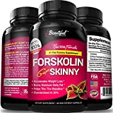 Forskolin 100% Pure Extract | #1 Belly Fat Burner for a Flat Tummy (10x Trim & Slim) All Natural Weight Loss Supplement Pills for Women & Men - By Beautiful Once Again