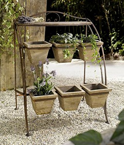 Metal Plant Stand For Outdoor Or Greenhouse Two Tiers