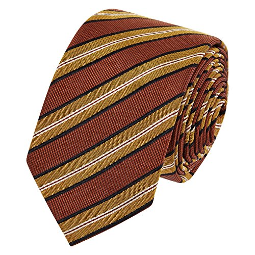Mens Costume National Copper Coloured Silk Tie Gents
