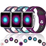 Haveda Sport Bands Compatible for Apple Watch 44mm/42mm, Soft Bracelet Bands for Apple Watch, iWatch Series 4/3/2/1, Women Men Kids 44mm/42mm M/L Blue/Pink, Blue/Teal, Fushcia/Black (Color: 3Pack(Blue/Pink, Blue/Teal, Fushcia/Black), Tamaño: 42mm/44mm M/L)