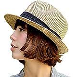 nakota(ナコタ) ミックスペーパーハット メンズ レディース 麦わら帽子 折りたたみ パナマ帽 麦わらハット 春夏 帽子 中折れ ハット リボン ライン 軽い 通気性 紫外線対策 大きいサイズ ランキングお取り寄せ
