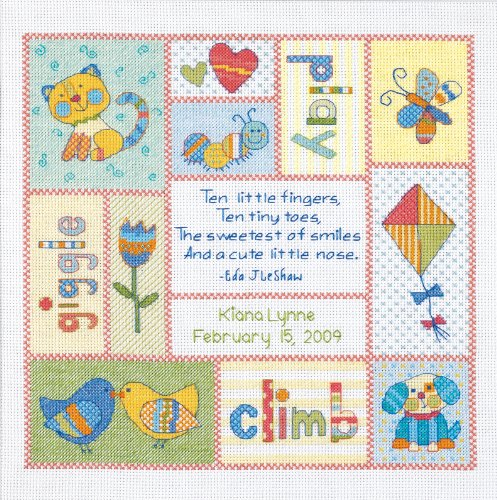 Janlynn Cross Stitch Kit, Disney Princess Birth Announcement