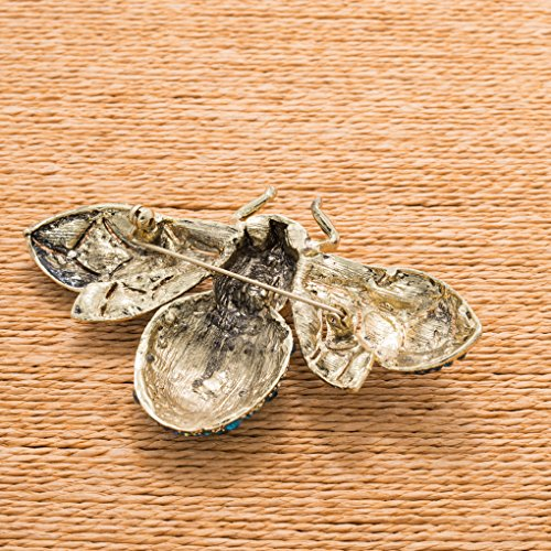 Vintage Style Rhinestone Crystal Bug Bee Brooch Pin Animal Broach Pins Jewelry 6608 5