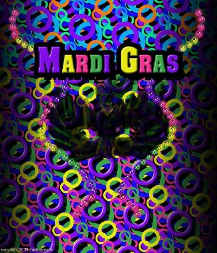 10x20 Mardi Gras Computer Printed Background