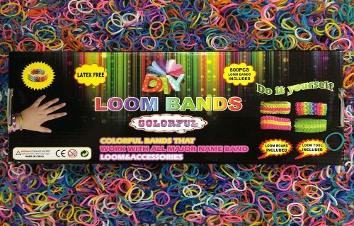 DIY Loom Band Kits - 600 Bands Incuded - Instructions Included - Full Kit