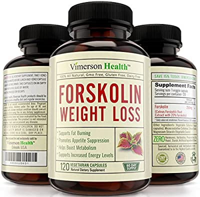 60 DAY SUPPLY - Pure Forskolin Extract for Extreme Weight Loss. 100% All Natural Supplement. Best Diet Pills, Appetite Suppressant & Carb Blocker. Made in the USA. 100% Money Back Guarantee
