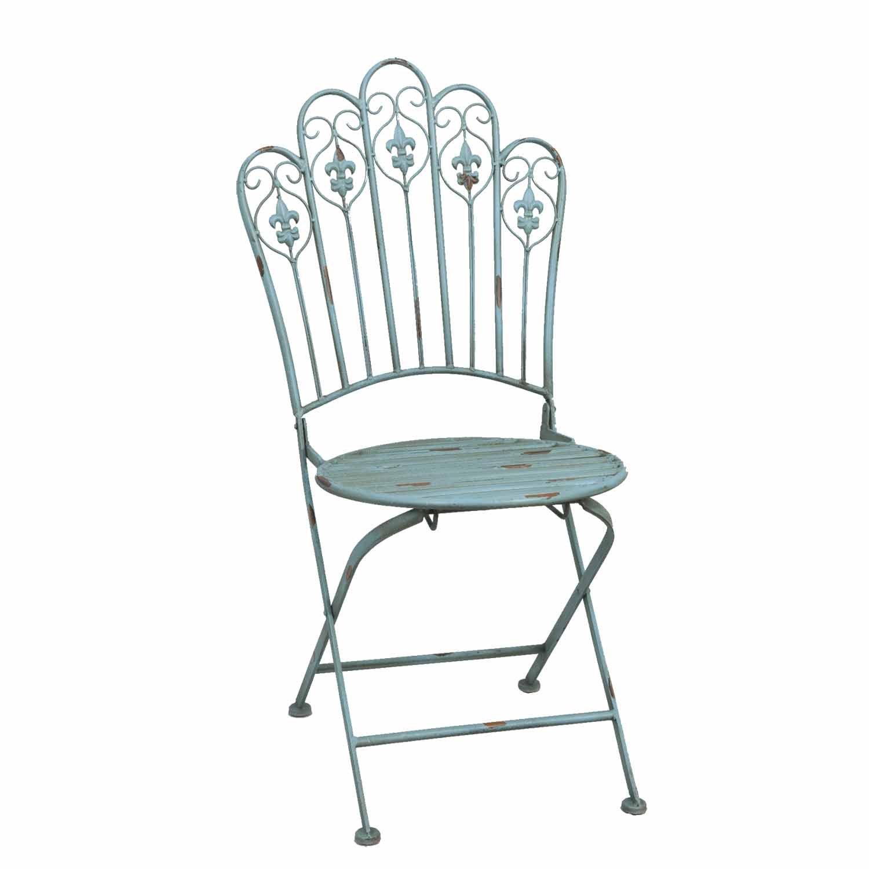Clayre & Eef 5Y0057ABL Stuhl Gartenstuhl bläulich ca. 40 x 46 x 94 cm jetzt kaufen