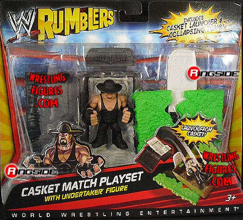 Buy Low Price WRESTLING UNDERTAKER W/ CASKET MATCH ACCESSORIES WWE RUMBLERS WWE Toy Wrestling Action Figure (B004VSJXNC)