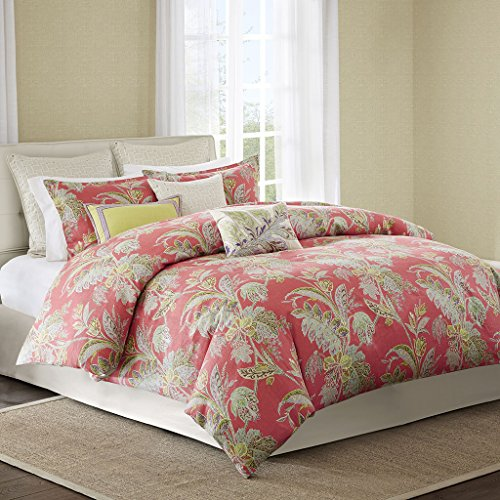 Echo Bedding Ishana Comforter Set, King, Coral