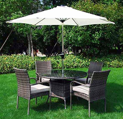 GartenmöBel-Set, Aus Rattan, Für 6 Stapelstühle Aguada mit
