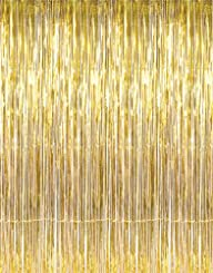 Shiny Gold Tinsel Foil Fringe Door Wi…