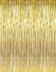 1 X 3′ x 8′ Gold Tinsel Foil Fringe D…