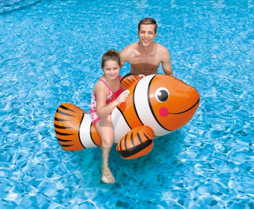"""Giant 67"""" Clown Fish Ride On for Swimming Pool or Beach"""