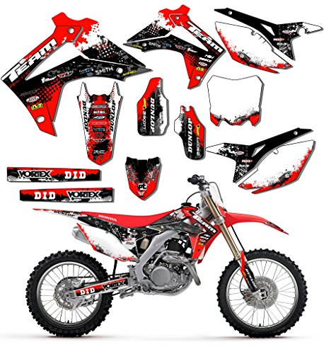 Team Racing Graphics kit for 2005-2015 Honda CRF 450X, SCATTER (Honda Crf 450x compare prices)