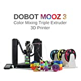DOBOT MOOZ 3 - Auto Color Mixing and Switching  Full Color Range Triple Extruder 3D Printer (Color: Black)