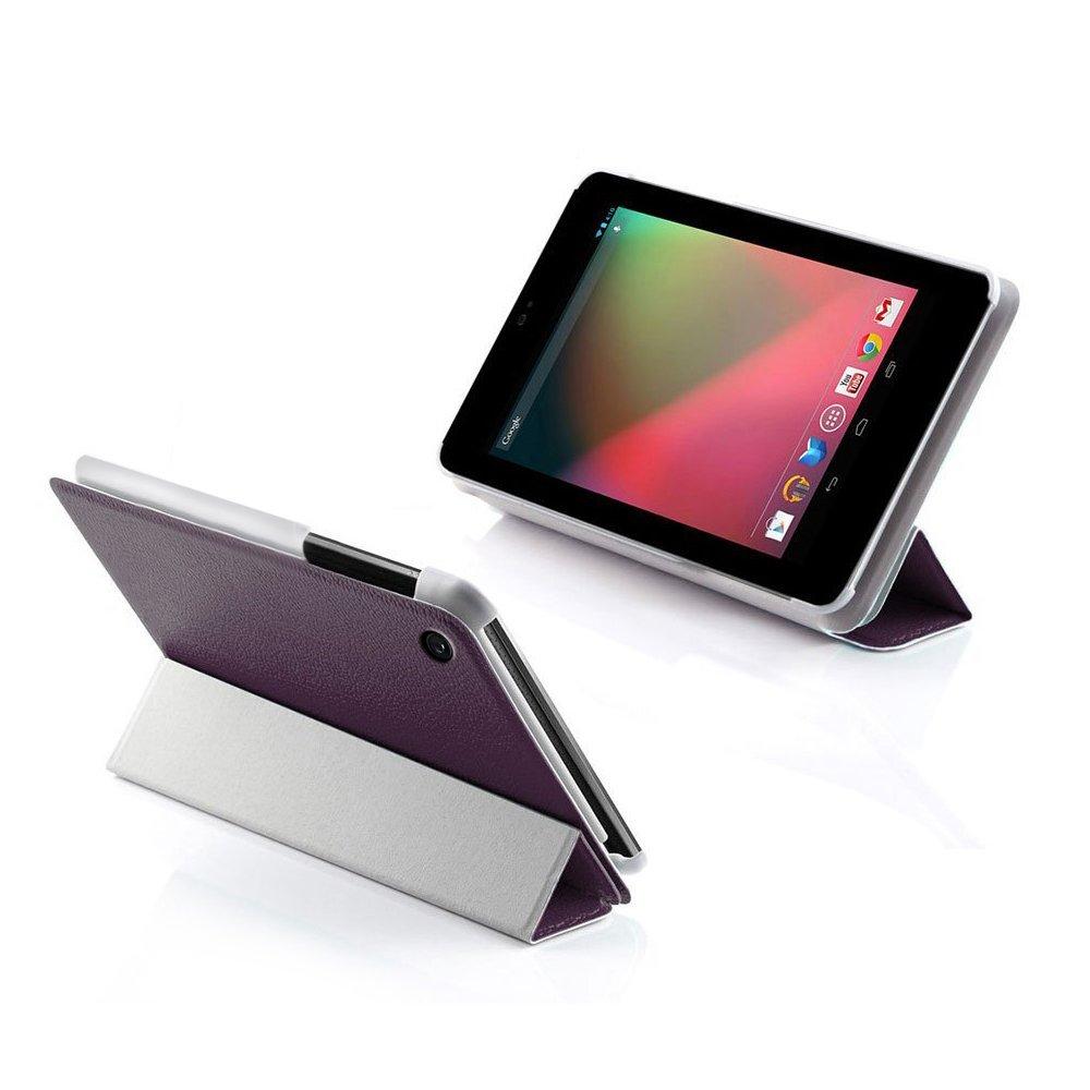 Ordel® Funda de cuero (PU) elegante para Asus Google Nexus 7 Tablet VII V2 2013 + protector de la pantalla y lápiz (Violeta)  Electrónica Comentarios y más información