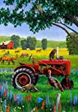 """Tractor Critters Flag By Custom Decor 12""""x18"""""""