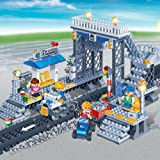 Build Your Own Train Station (342 pieces) - Boys / ChildrenÕs Early Learning Educational Block Building Set Toy Ð Meets all UK Safety Standards Ð Age 5 +