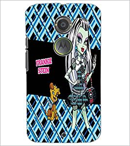 PrintDhaba Kitty and Girl D-2158 Back Case Cover for MOTOROLA MOTO X2 (Multi-Coloured)