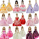 E-TING Lot 5 P 5x Fashion Handmade Clothes Dresses Grows Outfit for Barbie Doll