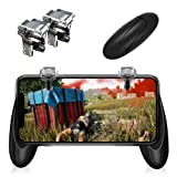 Mobile Game Controller?Upgraded Version?- PUBG/Fortnite / Knives Out Mobile Controller,Sensitive Shoot and Aim Triggers for L1R1 Mobile Game Trigger Joystick for Android & iPhone (Transparent) (Color: Transparent)