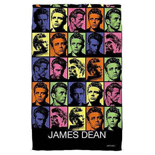 James Dean Color Block Beach Towel White 36X58