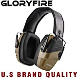 GLORYFIRE Electronic Shooting Earmuff Sound Amplification 6 Times Electric Earmuffs Perfect for Hunting and Shooting (Color: Coyote)