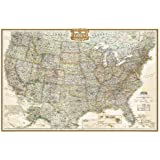 United States Executive Poster Size Wall Map (tubed) (National Geographic Reference Map)